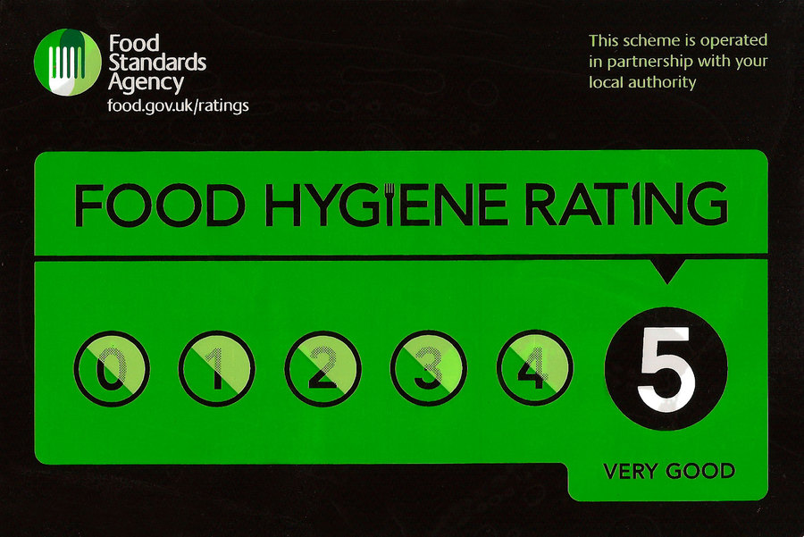 UK Food Standards Agency 5 Star Hygiene rating